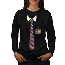 Full Time Nerd Tie Geek Women Sweatshirt NEW   Wellcoda