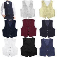 Kids Boys Gentleman Formal Waistcoat Wedding Suits Tuxedo Vest Party Clothes