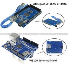 Arduino Atmega2560-16AU CH340G UNO R3 Mega2560 Board W5100 Ethernet Shield Board
