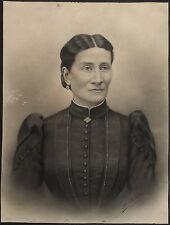 1904-ANTICO E RARO DISEGNO A CARBONCINO-RITRATTO FEMMINILE-FIRMATO-ORIGINALE