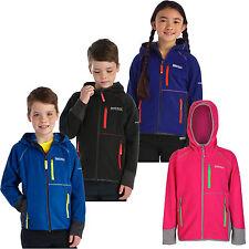 Regatta Whinfell Full Zip Kids Fleece Boys Girls Multi Colours