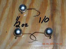 25 3//8oz Ball Head Jigs Eagle Claw 635 SW Hooks 1//0  2//0  3//0  4//0 You Choose