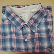 Paper Denim & Cloth Men's Shirt Big & Tall Short Sleeve Plaids Blue NWT