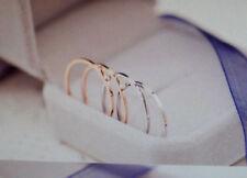 Filigraner Schlichter Damen Edelstahl Ring Dünn Farbe Silber oder Rose Gold 1523
