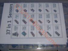37 in 1 Sensor Kit Set für Arduino + Kunststoffbox / passendes 9V 1A Netzteil