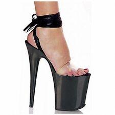 """Women 8"""" Platform Stilettos Super High Heel Peep Toe Shoes Club Strappy Sandals"""