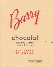 Buvard   Chocolats Barry