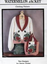 Sweatshirt applique pattern watermelon tote sz ALL