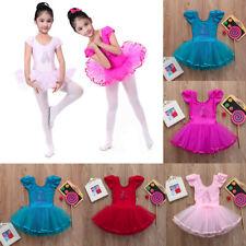 New Toddler Girls Gauze Leotards Ballet Bodysuit Dancewear Dress Clothes Outfits