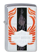 Zippo Harley Davidson Flame Design , auf  Wunsch mit Gravur Biker 2002330
