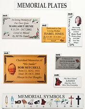 Personalizzata Memorial targa famiglia PET PLACCA CROCE