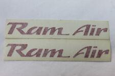 93-02 Trans Am WS6 Ram Air Hood Decals Pair Red