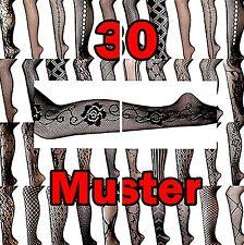 Femmes Filet-collant sur 30 motif trendy Gothique Noir Nero Emo xs/s/M/L,