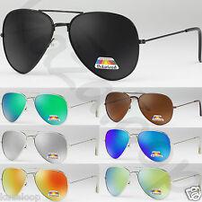 Nuevo Unisex aviador gafas de sol polarizadas para hombre Mujer Vintage Retro