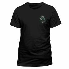 Official Harry Potter House Slytherin Crest T Shirt Black NEW Front n Back Print