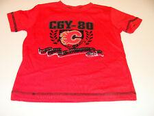 2011-12 Calgary Flames Age 2 Crest Logo T Shirt Child Kids NHL Hockey NWT