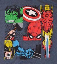 MARVEL Comics Avengers Hulk Captain America Thor Ironman Spiderman T-Shirt Tee