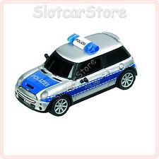 """Carrera GO 61089 Mini Cooper S """"Polizei D"""" (mit Blaulicht) 1:43 Slotcar Auto"""