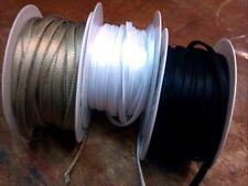 """FLAT 1/4"""" SATIN TUBING 5mm EDGING BIAS 1 yd Made in France"""