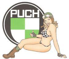 PUCH left Pin Up gauche Sticker°
