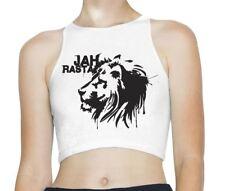Jah Rasta Reggae Sleeveless High Neck Crop Top