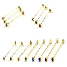 Men's Jewelry Shirt Collar Pin Gold Tie Clip Brooch Bar Gentlemen Accessories