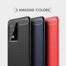 Housse etui coque silicone gel carbone Samsung Galaxy S20 Plus + verre trempe