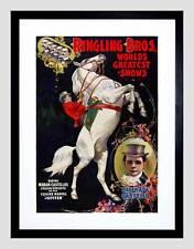 VINTAGE ADVERT CIRCUS RINGLING BROS CASTELLO JUPITER FRAMED ART PRINT B12X3911
