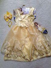 New Yellow Princess Belle, Beauty & Beast Dress (4-6x) Hair Bow FREE Bracelet