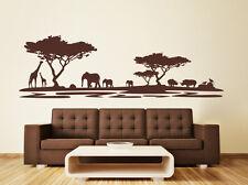 Landschaft Afrika Safari - Savanne Serengeti Wohnzimmer Wandaufkleber WandTattoo