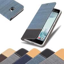Handy Hülle für HTC U ULTRA Cover Case Tasche Etui Jeans Stoff
