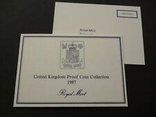 1987 ROYAL MINT PROOF COIN SET OFFICIAL DOCUMENTATION. 1987 SET ORIGINAL LEAFLET