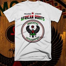 African Kemetic T-Shirt Egyptian Falcon Black Wakanda Melanated Roots cotton tee