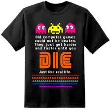 Da Uomo Classico Vintage Giochi Retrò UMORISMO T Shirt 16 Bit locale Megadrive Nintendo