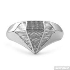 925 Sterling Silver Mens Superman Diamante Ring
