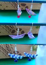 Orecchini origami Barca Realizzati a mano - Origami Earrings Boat Handmade