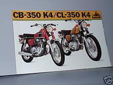 1973 Honda CB350 K4 / CL350 K4 Motorcycle Sales Brochure / Literature