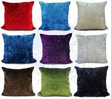 """Velvet Cushion Cover Cushions Plain Crush Velvet 17""""x17"""" 20""""X20"""" 23""""X23"""""""