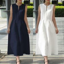 AU Women Sleeveless V-neck Lace Party Evening Maxi Dress Plus Size Long Sundress