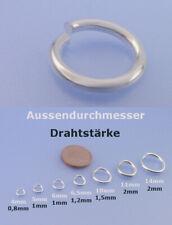 925 Sterling Silber Ösen 4 / 5 / 6 / 6,5 / 10 / 11 / 14 mm Öse Binderinge 0,8 -2