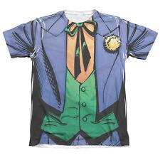 BATMAN JOKER COSTUME Front Print Halloween Adult Men's Graphic Tee Shirt SM-2XL