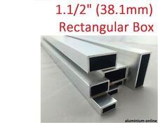 "ALUMINIUM RECTANGULAR BOX SECTION 1.1/2"" (38.1mm), 4 variations, 100mm - 2500mm"