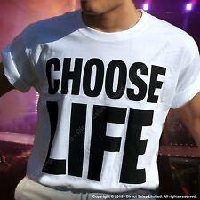 CHOOSE LIFE WHAM Replica George Michael T Shirt Retro 80s Fancy Dress ALL SIZES