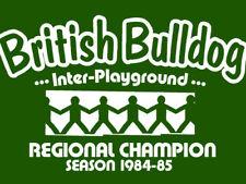 British Bulldog T-Shirt-Parco giochi retrò-tutte le taglie