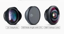 Phone lens Fisheye Telephoto Anamorphic Wide Angle iPhone Samsung Htc Lg Sony