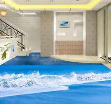 Beautiful waves beach 3D Floor Mural Photo Flooring Wallpaper Home Wall Decal