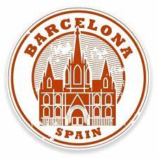 2 X Pegatina de vinilo Barcelona Cataluña España Coche Viaje Equipaje #9552
