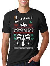 Christmas Moose Nordic pattern Tee shirt Xmas Christmas T-shirt