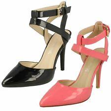 Ladies Anne Michelle High Heel Ankle Strap 'Court Shoe'