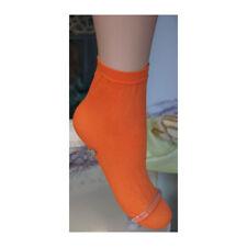 "Trasparenze ""Monique"" Orange Cotton Ankle Socks"